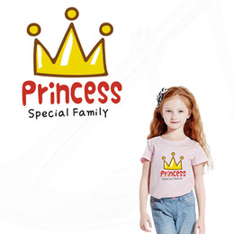 Wholesale Wholesale Iron Princess Patches - Patch for clothing princess stickers 18.66*16.6CM iron on patch girl T-shirt Sweater thermal transfer paper