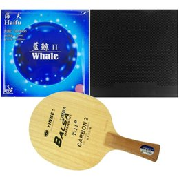 Wholesale Carbon Table Tennis - Original Pro Table Tennis Combo Racket Galaxy Yinhe T-11+ with Dawei 388C-1 and Haifu Whale II Factory Tuned Long shakehand FL