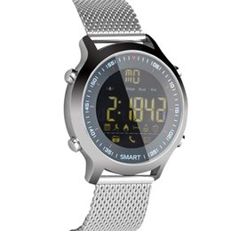 2020 contando relógio EX18 Chamada Massagem Lembrar Despertador Relógio Inteligente Cronômetro Passo Contando Bluetooth 4.0 Smartwatch Apoio Câmera Remota 2018 Novo contando relógio barato
