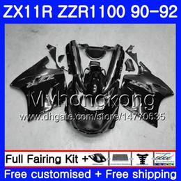 Cuerpo Para KAWASAKI NINJA ZZR1100 ZX 11R ZX-11R 1990 1991 1992 205HM.46 ZZR 1100 ZX11 R ZX-11 R ZZR-1100 ZX11R 90 91 92 Gris Carenado desde fabricantes