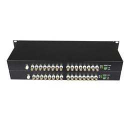 Receptor de transmissor de fibra óptica on-line-Alta Qualidade HD CVI 16 Canais De Fibra De Vídeo De Vídeo Transmissor Receptor Transmissor-Para 720 P 960 P AHD CVI TVI HD Câmeras de CCTV