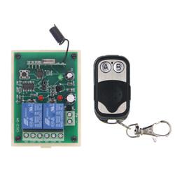 Дистанционная система онлайн-DC 12V 24V 2 CH 2CH RF беспроволочная система переключателя дистанционного управления, 315/433 MHz, передатчик +приемник рамки металла