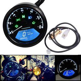 Wholesale Motorcycle Odometer Speedometer Tachometer - 12000RPM LED Backlight Signal Light Tachometer Speedometer Odometer for Motorcycle Scooter Golf Carts ATV MOT_100