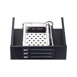 Wholesale Ide Drive Caddy - ST5534 Optical drive bay 3*2.5in hard drive caddy to 5.25in PC bay SATA internal hdd mobile rack