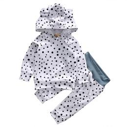 2019 baby boy одежда полька точка newborn baby girl clothes Pudcoco Baby boy Polka Dot Print Hoodied Pant 2pcs Hooded Top Kid Clothes Set Xmas Clothing Sets дешево baby boy одежда полька точка