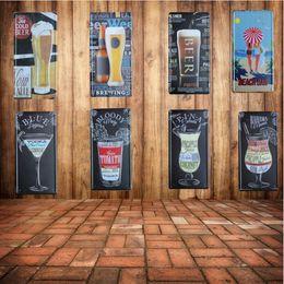 arte della birra Sconti 30X15 CM Vintage BIRRA Metallo Targhe in metallo Piatti di Birra Decorativi Retro ART Poster Metallo Pittura Per Bar Cafe Decorazione Della Parete di casa