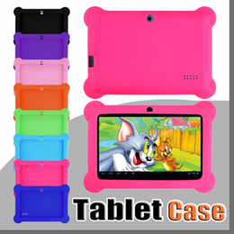 "universal kids tablet case Promo Codes - Anti Dust Kids Child Soft Silicone Rubber Gel Case Cover For 7"" 7 Inch Q88 Q8 A33 A23 Android Tablet pc MID Free shipping"