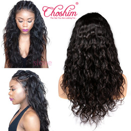 hairstyles for natural wavy hair Promo Codes - Brazilian Wet and Wavy Lace Front Human Hair Wigs For Black Women Water Wave Pre Plucked Remy Hair Lace Wig With Baby Hair