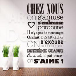 Gli adesivi murali delle regole di casa online-Art Design Decorazione per la casa Cheap Vinyl French Quote Rules Parole Wall Sticker Rimovibile Decorazioni per la casa Personaggi Decalcomanie nelle camere