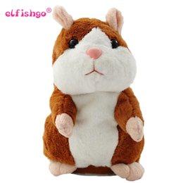 2018 Hablar Hamster de peluche de juguete Hot Cute Speak Talking Sound Record Hamster Toy para regalo de los niños desde fabricantes
