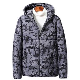 Homem camuflagem azul inverno casaco on-line-6XL 7XL 8XL 9XL Homens Inverno Parkas Jaqueta de Camuflagem Casuais Outwear Engrosse Quente Com Capuz Casaco Outwear À Prova de Vento Cinza Azul Vermelho