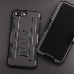 Wholesale Future Iphone - For iphone X 7 active 6 6s plus Future Armor Impact Hybrid Hard Case Cover + Belt Clip Kickstand Stand for i phone 5 5s s8 plus s7 s6 edge