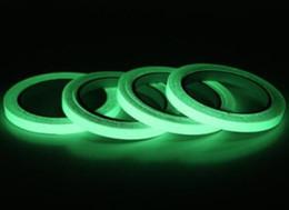 ruban lumineux Promotion 12 MM 3 M Vert Lumineux Bande Auto-adhésif Bande Nuit Vision Glow En Sombre Sécurité Scène de voiture autocollant Accueil art Décoration GGA718 120 pcs