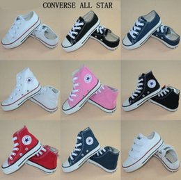 Wholesale Children Brand Shoes - New brand kids canvas shoes fashion high - low shoes boys and girls sports canvas children shoes