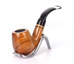 Wholesale carved wood pipes - New Green Sandalwood smooth carving, portable filter pipe, wood grain cigarette fittings