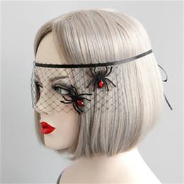 Masque pour les yeux de princesse en Ligne-Halloween Masquerade Party Araignée Princesse Masque Face A Half Face Eye Masques Voile Accessoires Facile à utiliser 6 5hy dd