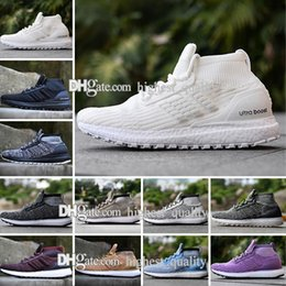 Wholesale Genuine Leather Boots For Cheap - Cheap Ultra Boost ATR Mid Boots Burgundy S82035 Running Shoes Real Boost Endiess Energy Sneakers for Men Ultraboost Sports Outdoor Sneaker