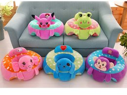 Wholesale Chair Cushion Supports - Cartoon animal baby Support Seat Sofa Baby Learning To Sit Chair Comfortable Travel Car Seat Pillow Cushion Plush Toys