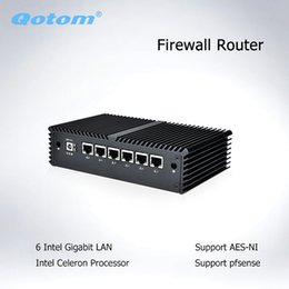escritorio intel i5 Rebajas Qotom Pfsense Mini PC 6 LAN Nano itx Barebone micro PC Celeron 3855U AES-NI Fanless Firewall router Mini Computer Thin Client