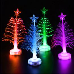 colore cambiante principale albero di natale Sconti Mini LED Merry Xmas albero di Natale cambia colore lampada a luce decorazione del partito di casa Ornamento Illuminazione per bambini regalo Giocattoli 1000pcs AAA929