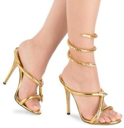 Gold Gladiator High Heel Shoes Australia | New Featured Gold