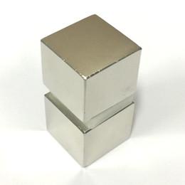Seltene starke magneten neodym online-2 STÜCKE Super starke magnet N52 Seltene erde Neodymium Magne Block 25x25x22mm Seltene erde Neo Neodymium neodymium magnetische materialien blockieren