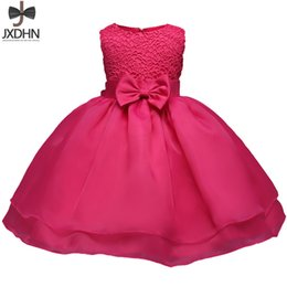 Wholesale 12 Months Girl Red Dress - Newborn Baby Girl Clothes One Birthday Dress Toddler Christening Gowns Infant Party Dresses For Girl 6 12 18 24 Months Bebes