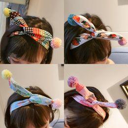 2019 La versione della Corea del Sud degli ornamenti per capelli per bambini adorabile pelliccia di piccoli animali con orecchie di coniglio di arte del panno di gioielli per capelli freschi da