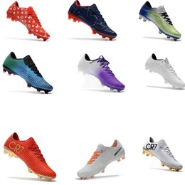 Wholesale cheap vapors - Mercurial Vapor XI FG Mens Football Boots New Soccer Shoes Mercurial Soccer Cleats For Men Cheap High Quality Football Cleats Soccer Boots