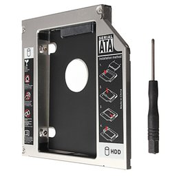 Wholesale Hard Driver Enclosure - Universal SATA to SATA 2nd HDD HD Hard Driver Caddy HDD Hard Drive Enclosure Case Disk Box for 12.7mm CD DVD-ROM