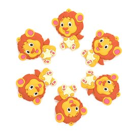 silicone pendants wholesale Coupons - Silicone Teether Lion 2pcs lot Cartoon Silicone Pendant Necklace Teething Toy for Baby BPA Free Teething Necklace