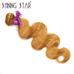Wholesale new star hair weave - Shining Star New style and fast shipping 100% remy Body Wave Remy Hair Extension Cheap Human Weaves 100% Unprocessed Virgin Hair