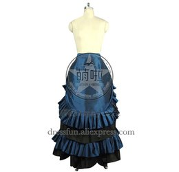 01cee3aa0bc victorian gothic lolita dress Promo Codes - Victorian Lolita Edwardian  French Bustle Skirt Gothic Lolita Dress