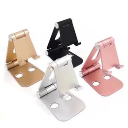 Wholesale Pop Metal - Universal Pop Multi-angle Adjustable Phone Holder Aluminum Metal Foldable Mobile Phone Tablet Desk Holder Stand for iPad iPhone