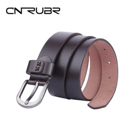 Wholesale Thin Belts For Dresses - CNRUBR Designer Women Belt High Quality Genuine Leather Jeans for Womens Luxury Fashion Pin Buckle Dresses Thin Female Straps
