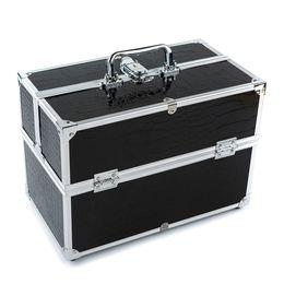 Wholesale Large Make Up Cases - Wholesale 3 Layer Large Make Up Case Cosmetic Organizer Box Professional Containing Storage Case Make Up Tools Accessory Black