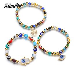 2019 красивые руки браслеты Ziime 2018 Beautiful Colorful Stainless Steel  Strand bracelets Hand Eye of Fatima Pendant Jewelry Women Bangle Brecelets дешево красивые руки браслеты