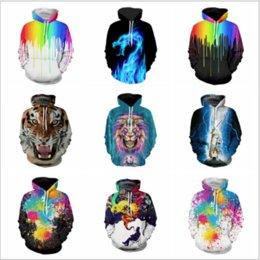 Wholesale Galaxy Girl - 15 Styles 3D Print Galaxy Pullover Hoodies Men Women's Long Sleeve Hoodies With Hat Clothing Loose Plus Size For Girls Boys Gifts