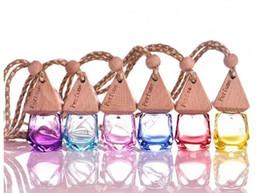 perfume de vidro fimo Desconto 6 ml de Vidro Colorido Garrafa de Óleo Essencial pendurar decoração do carro Fimo beleza Frascos de Perfume Do Presente de Casamento c784