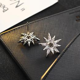 Wholesale Clip Earrings Star - Star Fashion Earrings Gold Earrings Jewelry zircon multilayer snow burst