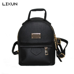 Wholesale Pretty Backpacks - 2017 Mini Backpacks For Teenager Girls Back Bag Women PU leather Small Pretty Shoulder Bag feminine Daypack bolsas femininas