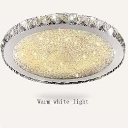 Argentina Ronda de lujo llevó la luz de techo de cristal ultrafino 6 cm montaje empotrado luces de techo accesorio cristal mixto para sala de estar dormitorio cocina Suministro