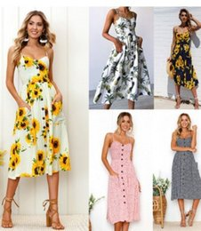 Wholesale Wholesale Factory Dresses - 2018 spring and summer new pattern printing dresses and dresses for women's factory