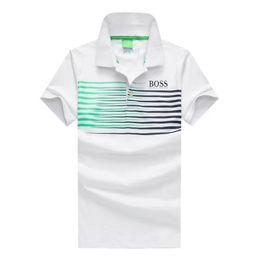 Wholesale Polo Shirt Long Sleeve Men - High quality polo summer men's short-sleeved T-shirt for men, Korean version slim shirt collar white, blue and black cotton.