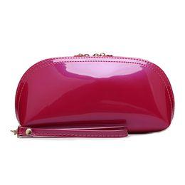 Argentina Al por mayor-2016 Nuevo bolso de embrague del bolso de las mujeres de lujo popular por la noche Bolsas bolsos de charol rojo cheap red patent evening bag Suministro