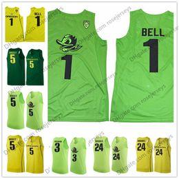 Wholesale Apple Basketball - Oregon Ducks #1 Bell 24 Dillon Brooks 3 Payton Pritchard 5 Tyler Dorsey Apple Dark Green Yellow Stitched NCAA College Basketball Jerseys S