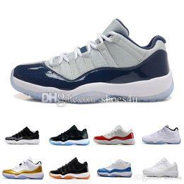 Wholesale Baron Plush - retro 11 men women Basketball Shoes Navy Gum legend University Blue Barons bred Georgetown space jam 45 72-10 retro 11s Sports sneaker