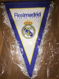 Wholesale Cm Club - 18.5*38.5*38.5 cm Bandera 2018 realmadrid Futbol Bandeira equiped de real madrid club Soccer football equipment kit Flag drapeau