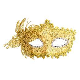 Wholesale Carnival Eye Masks - PHFU Sexy Women Lace Mask Venetian Masquerade Ball Party Carnival Face, Eye (yellow)