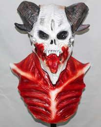 Wholesale Realistic Rubber Masks - horror devil halloween carnival latex realistic rubber masquerade ball skull mask